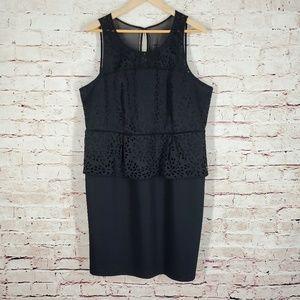 Lane Bryant Black Peplum Dress Size 16